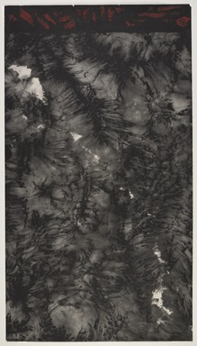 Qiu Deshu (Chinese, born 1948). <em>Natural Order, Series IV</em>, 1981. Ink on paper, seal marks, and paper collage, sheet: 44 5/8 x 25 in. (113.3 x 63.5 cm). Brooklyn Museum, Gift of Qiu Deshu in honor of Joan Lebold Cohen and her 1983 exhibition at the Brooklyn Museum, 2016.14. © artist or artist's estate (Photo: , 2016.14_overall_PS9.jpg)