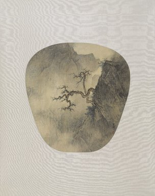 Li Huayi (Chinese, born 1948). <em>Pinetree Against  Rock (深壑勁松)</em>, 2012. Ink and color on silk, 10 7/16 × 9 13/16 in. (26.5 × 25 cm). Brooklyn Museum, Gift of Li Huayi in honor of the new Chinese galleries, 2016.29. © artist or artist's estate (Photo: , 2016.29_PS9.jpg)