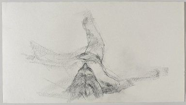 Jeremy Deller (British, born 1966). <em>Untitled (Lying Pose) from Iggy Pop Life Class by Jeremy Deller</em>, 2016. Graphite pencil on paper, 10 x 18 in. (25.4 x 45.7 cm). Brooklyn Museum, Brooklyn Museum Collection, 2016.3.15b. © artist or artist's estate (Photo: Brooklyn Museum, 2016.3.15b_PS9.jpg)