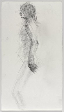 Jeremy Deller (British, born 1966). <em>Untitled (Standing Pose) from Iggy Pop Life Class by Jeremy Deller</em>, 2016. Graphite pencil on paper, 18 x 10 in. (45.7 x 25.4 cm). Brooklyn Museum, Brooklyn Museum Collection, 2016.3.15c. © artist or artist's estate (Photo: Brooklyn Museum, 2016.3.15c_PS9.jpg)