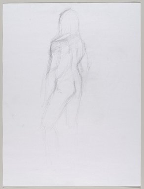 Jeremy Deller (British, born 1966). <em>Untitled (Standing Pose) from Iggy Pop Life Class by Jeremy Deller</em>, 2016. Graphite pencil on paper, 24 x 18 in. (61 x 45.7 cm). Brooklyn Museum, Brooklyn Museum Collection, 2016.3.1c. © artist or artist's estate (Photo: Brooklyn Museum, 2016.3.1c_PS9.jpg)