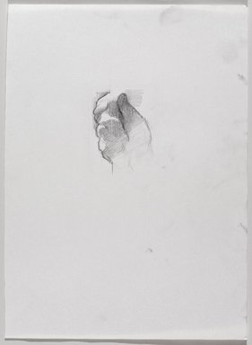 Jeremy Deller (British, born 1966). <em>Untitled (Detail of Hand Holding Pole) from Iggy Pop Life Class by Jeremy Deller</em>, 2016. Graphite pencil on paper, 10 1/4 x 14 in. (26 x 35.6 cm). Brooklyn Museum, Brooklyn Museum Collection, 2016.3.1d. © artist or artist's estate (Photo: Brooklyn Museum, 2016.3.1d_PS9.jpg)