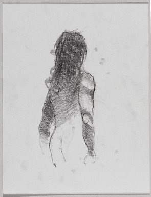 Jeremy Deller (British, born 1966). <em>Untitled (Standing Pose) from Iggy Pop Life Class by Jeremy Deller</em>, 2016. Graphite pencil on paper, 9 x 7 in. (22.9 x 17.8 cm). Brooklyn Museum, Brooklyn Museum Collection, 2016.3.20c. © artist or artist's estate (Photo: Brooklyn Museum, 2016.3.20c_PS9.jpg)