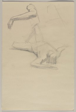 Jeremy Deller (British, born 1966). <em>Untitled (Lying Pose with Details of Arm) from Iggy Pop Life Class by Jeremy Deller</em>, 2016. Graphite pencil and powdered graphite on paper, 18 x 12 in. (45.7 x 30.5 cm). Brooklyn Museum, Brooklyn Museum Collection, 2016.3.22b. © artist or artist's estate (Photo: Brooklyn Museum, 2016.3.22b_PS9.jpg)