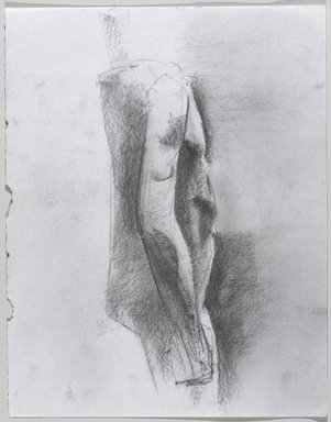 Jeremy Deller (British, born 1966). <em>Untitled (Standing Pose) from Iggy Pop Life Class by Jeremy Deller</em>, 2016. Graphite pencil and powdered graphite on paper, 14 x 11 in. (35.6 x 27.9 cm). Brooklyn Museum, Brooklyn Museum Collection, 2016.3.4c. © artist or artist's estate (Photo: Brooklyn Museum, 2016.3.4c_PS9.jpg)