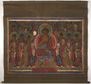 Korean. <em>Painting of the Seven Stars (Chil Sung)</em>, early 19th century. Hanging scroll: color on cloth, Overall: 81 × 75 in. (205.7 × 190.5 cm). Brooklyn Museum, Carroll Family Collection, 2017.29.41 (Photo: , 2017.29.41_PS11.jpg)
