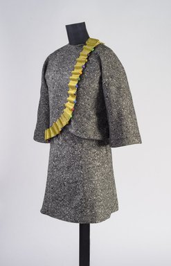 Jae Jarrell (American, born 1935). <em>Revolutionary Suit</em>, 2010. Wool, suede, silk, wood, pigment, On dress form: 35 × 27 × 12 in. (88.9 × 68.6 × 30.5 cm). Brooklyn Museum, William K. Jacobs, Jr. Fund, 2017.3a-b. © artist or artist's estate (Photo: Image courtesy of Lusenhop Fine Art, by Tim Safranek Photographics, 2017.3a-b.jpg)