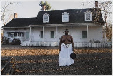 Nona Faustine (née Simmons) (American, born 1977). <em>Isabelle, Lefferts House, Brooklyn</em>, 2016. Chromogenic photograph, sheet: 27 15/16 × 42 in. (71 × 106.7 cm). Brooklyn Museum, Emily Winthrop Miles Fund, 2017.41b. © artist or artist's estate (Photo: , 2017.41.2_PS9.jpg)