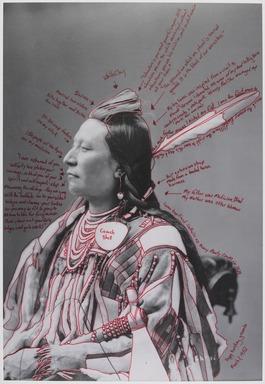 Wendy Red Star (Apsáalooke (Crow), born 1981). <em>Alaxchiiaahush / Many War Achievements / Plenty Coups</em>, 2014. Inkjet print, each panel: 25 × 17 in. (63.5 × 43.2 cm). Brooklyn Museum, Gift of Loren G. Lipson, M.D., 2018.19.5b. © artist or artist's estate (Photo: , 2018.19.5b_PS9.jpg)