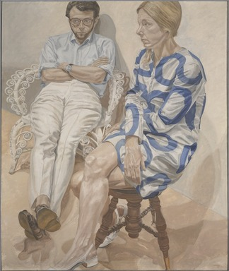Philip Pearlstein (American, born 1924). <em>Portrait of Linda Nochlin and Richard Pommer</em>, 1968. Oil on canvas, 72 × 60 in. (182.9 × 152.4 cm). Brooklyn Museum, Gift of the Estate of Linda Nochlin Pommer, 2018.20.3. © artist or artist's estate (Photo: , 2018.20.3_PS9.jpg)