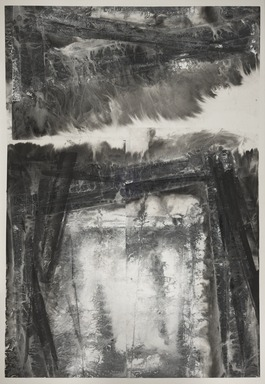 Zheng Chongbin (Chinese, born 1961). <em>Skylines</em>. Ink on paper, 105 1/8 × 72 11/16 in. (267 × 184.7 cm). Brooklyn Museum, Gift of Christopher Reynolds in honor of Bruce and Yoke San Reynolds, 2018.25. © artist or artist's estate (Photo: , 2018.25_PS9.jpg)