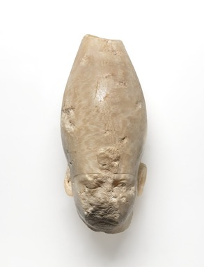<em>King Shabaka?</em>, ca. 716-702 B.C.E. Egyptian alabaster (calcite), 7 × 3 1/4 × 4 1/2 in. (17.8 × 8.3 × 11.4 cm). Brooklyn Museum, Gift of Edna R. Russmann, 2018.52. Creative Commons-BY (Photo: , 2018.52_front_PS9.jpg)