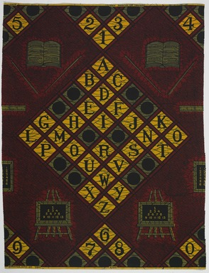 Vlisco B.V.. <em>Wax Print Textile, ABC Pattern</em>, ca. 2018. Cotton, synthetic dye, 36 × 36 in. (91.4 × 91.4 cm). Brooklyn Museum, Gift of Vlisco B.V., 2019.1.6 (Photo: , 2019.1.6_PS9.jpg)