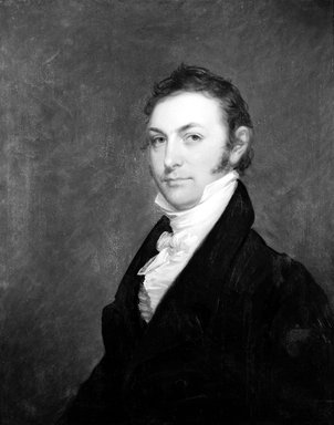 Matthew  Harris Jouett (American, 1788-1827). <em>Thomas Smith</em>, ca. 1820. Oil on panel, 30 3/16 x 24 1/8 in. (76.7 x 61.3 cm). Brooklyn Museum, Carll H. de Silver Fund, 21.130 (Photo: Brooklyn Museum, 21.130_bw.jpg)