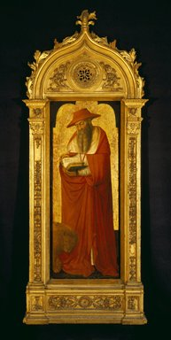 Donato de' Bardi (Italian,  Lombard-Ligurian School, active 1426-1450/51). <em>Saint Jerome, part of an altarpiece</em>, ca. 1445-1450. Tempera and and tooled gold on panel, 47 1/2 x 18 1/2 in.  (120.7 x 47 cm). Brooklyn Museum, Bequest of A. Augustus Healy, 21.138 (Photo: Brooklyn Museum, 21.138_SL3.jpg)