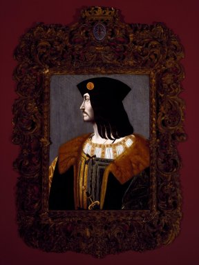 Bernardino  de'Conti (Italian, Milanese School, documented 1494-1522). <em>Portrait of Catellano Trivulzio</em>, 1505. Tempera and oil on panel, 29 1/8 x 22 1/4 in. (74 x 56.5 cm). Brooklyn Museum, Bequest of A. Augustus Healy, 21.141 (Photo: Brooklyn Museum, 21.141_SL3.jpg)