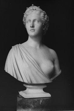 Hiram S. Powers (American, 1805-1873). <em>Hope</em>, ca. 1869. Marble, 28 3/4 x 19 11/16 x 11 9/16 in. (73 x 50 x 29.4 cm). Brooklyn Museum, Robert B. Woodward Memorial Fund, 21.244. Creative Commons-BY (Photo: Brooklyn Museum, 21.244_bw.jpg)