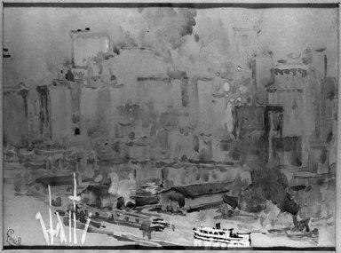 Joseph Pennell (American, 1860-1926). <em>Rubber Neck Boats</em>, 19th century. Watercolor Brooklyn Museum, John B. Woodward Memorial Fund, 21.346 (Photo: Brooklyn Museum, 21.346_acetate_bw.jpg)