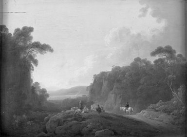 George Morland (British, 1763-1804). <em>Gypsy Camp</em>, last quarter of 18th century. Oil on panel, 12 x 16 in. (30.5 x 40.6cm). Brooklyn Museum, Bequest of Samuel E. Haslett, 21.36 (Photo: Brooklyn Museum, 21.36_acetate_bw.jpg)