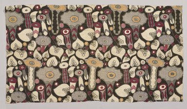 Wiener Werkstätte (Austrian, 1903-1932). <em>Textile Fragment</em>, ca. 1920. Linen, 34 x 19 in. (86.4 x 48.3 cm). Brooklyn Museum, Museum Expedition 1920 & 1921, Robert B. Woodward Memorial Fund, 21.434.202 (Photo: Brooklyn Museum, 21.434.202_PS9.jpg)