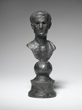 Roman. <em>Portrait Bust of Emperor Caligula</em>, ca. 2nd century C.E. Bronze, 5 5/8 in. (14.3 cm). Brooklyn Museum, Bequest of William H. Herriman, 21.479.12. Creative Commons-BY (Photo: Brooklyn Museum, 21.479.12_front_PS2.jpg)