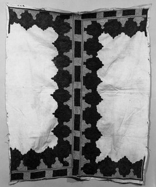 <em>Pillow Cover, embroidered fragment</em>. Silk on cotton Brooklyn Museum, Museum Expedition 1921, Robert B. Woodward Memorial Fund, 21.486.8. Creative Commons-BY (Photo: Brooklyn Museum, 21.486.8_bw.jpg)