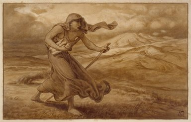 Elihu Vedder (American, 1836-1923). <em>The Cumaean Sibyl</em>. Watercolor on paper Brooklyn Museum, Bequest of William H. Herriman, 21.491.3 (Photo: Brooklyn Museum, 21.491.3_SL3.jpg)