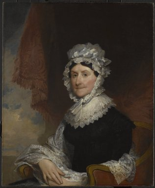 Gilbert Stuart (American, 1755-1828). <em>Mrs. Robert Nicholls (Henrietta Overing) Auchmuty</em>, 1816. Oil on canvas, 34 1/8 x 28 1/16 in. (86.6 x 71.2 cm). Brooklyn Museum, Gift of Herbert L. Pratt, 21.55 (Photo: Brooklyn Museum, 21.55_PS6.jpg)