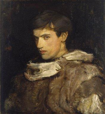 Abbott H. Thayer (American, 1849-1921). <em>William Michael Spartali Stillman</em>, ca. 1905-1915. Oil on canvas, 26 15/16 x 24 9/16 in. (68.5 x 62.4 cm). Brooklyn Museum, Museum Collection Fund, 21.58 (Photo: Brooklyn Museum, 21.58_SL1.jpg)