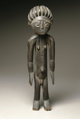 Zande. <em>Standing Male Figure</em>, 19th or 20th century. Wood, 14 3/4 x 4 x 7/16 in. (37.5 x 10.2 x 1.1 cm). Brooklyn Museum, Museum Expedition 1922, Robert B. Woodward Memorial Fund, 22.103. Creative Commons-BY (Photo: Brooklyn Museum, 22.103_SL1_edited_version.jpg)