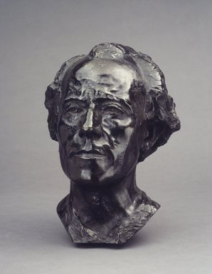 Auguste Rodin (French, 1840-1917). <em>Gustav Mahler</em>, 1909; cast between 1910-1914. Bronze, 13 3/8 x 11 x 9 3/4 in.  (34.0 x 27.9 x 24.8 cm). Brooklyn Museum, Ella C. Woodward Memorial Fund, 22.10. Creative Commons-BY (Photo: Brooklyn Museum, 22.10_transp6243.jpg)