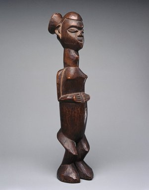 Teke. <em>Standing Female Figure (Buti)</em>, 19th or 20th century. Wood, 11 1/4 x 2 1/2 x 3 1/4in. (28.6 x 6.4 x 8.3cm). Brooklyn Museum, Museum Expedition 1922, Robert B. Woodward Memorial Fund, 22.111. Creative Commons-BY (Photo: Brooklyn Museum, 22.111_SL1.jpg)