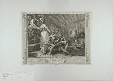 William Hogarth (British, 1697-1764). <em>The Idle Prentice</em>, 1747. Engraving on laid paper, 10 1/4 x 13 9/16 in. (26.1 x 34.5 cm). Brooklyn Museum, Bequest of Samuel E. Haslett, 22.1192 (Photo: Brooklyn Museum, 22.1192_view1_PS12.jpg)