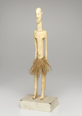 Mangbetu. <em>Figure of a Standing Male</em>, late 19th or early 20th century. Ivory, fiber, 14 x 2 1/8 x 3 1/4 in. (35.6 x 5.4 x 8.3 cm). Brooklyn Museum, Museum Expedition 1922, Robert B. Woodward Memorial Fund, 22.1260. Creative Commons-BY (Photo: Brooklyn Museum, 22.1260_PS1.jpg)