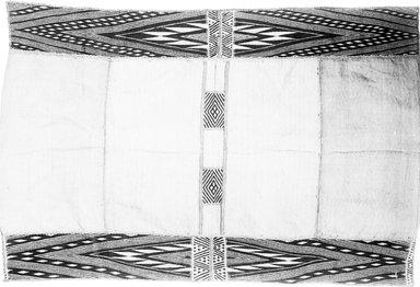 Mbuun. <em>Raffia Cloth</em>, 19th century. Raffia, 42 3/8 x 28 5/8 in. (107.5 x 74.0 cm). Brooklyn Museum, Museum Expedition 1922, Robert B. Woodward Memorial Fund, 22.1323. Creative Commons-BY (Photo: Brooklyn Museum, 22.1323_glass_bw.jpg)