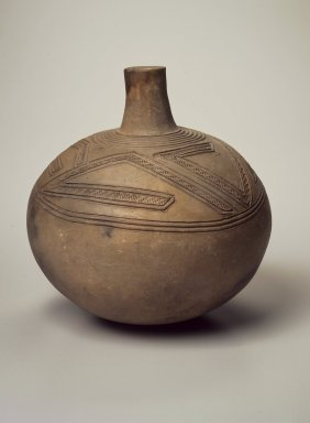 Yombe. <em>Pot</em>, late 19th or early 20th century. Terra cotta, 9 x 8 3/4 x 8 3/4 in. (22.9 x 22.2 x 22.2 cm). Brooklyn Museum, Museum Expedition 1922, Robert B. Woodward Memorial Fund, 22.1366. Creative Commons-BY (Photo: Brooklyn Museum, 22.1366.jpg)