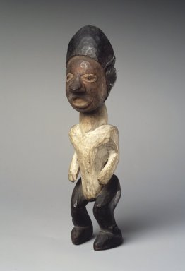 Kongo. <em>Standing Male Figure</em>, 19th or 20th century. Wood, pigment, 7 3/4 x 2 x 2 1/4in. (19.7 x 5.1 x 5.7cm). Brooklyn Museum, Museum Expedition 1922, Robert B. Woodward Memorial Fund, 22.1428. Creative Commons-BY (Photo: Brooklyn Museum, 22.1428.jpg)