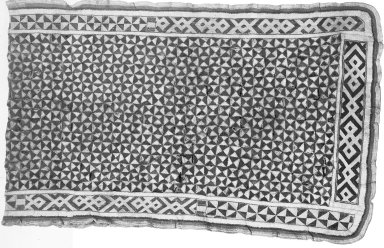 Kuba. <em>Textile</em>, late 19th or early 20th century. Textile, cotton, skin, 21 5/8 x 68 7/8 in. (55 x 175 cm). Brooklyn Museum, Museum Expedition 1922, Robert B. Woodward Memorial Fund, 22.1523. Creative Commons-BY (Photo: Brooklyn Museum, 22.1523_bw.jpg)
