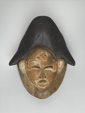 Punu. <em>Mask for Okuyi Society (Mukudj)</em>, late 19th or early 20th century. Wood, pigment, 10 3/4 x 8 1/4 x 4 3/4 in. (27.3 x 21 x 12.1 cm). Brooklyn Museum, Museum Expedition 1922, Robert B. Woodward Memorial Fund, 22.1589. Creative Commons-BY (Photo: Brooklyn Museum, 22.1589_PS2.jpg)