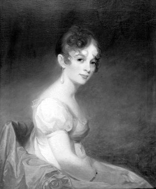 Thomas Sully (American, born England, 1783-1872). <em>Anne W. Waln</em>, 1808. Oil on canvas, 29 1/16 x 23 7/8 in. (73.8 x 60.6 cm). Brooklyn Museum, Carll H. de Silver Fund, 22.1831 (Photo: Brooklyn Museum, 22.1831_acetate_bw.jpg)