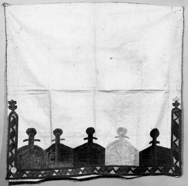 <em>Pillow Cover</em>. Linen, silk Brooklyn Museum, Museum Expedition 1922, Robert B. Woodward Memorial Fund, 22.1925. Creative Commons-BY (Photo: Brooklyn Museum, 22.1925_bw.jpg)