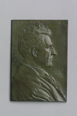 Portrait Plaque of Julian Alden Weir