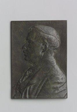 Portrait Plaque of Childe Hassam