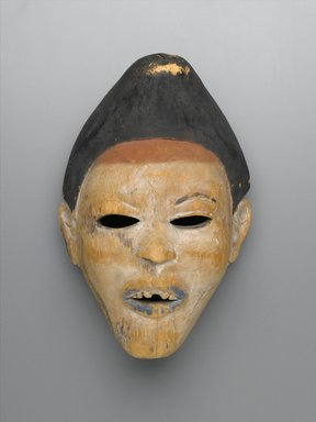Yombe. <em>Mask (Nganga Diphomba)</em>, 19th century. Wood, pigment, kaolin, 10 7/8 x 7 3/4 x 5 1/2 in. (27.6 x 19.7 x 14 cm). Brooklyn Museum, Museum Expedition 1922, Robert B. Woodward Memorial Fund, 22.224. Creative Commons-BY (Photo: Brooklyn Museum, 22.224_PS2.jpg)