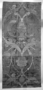 <em>Wall Hanging</em>, 16th century. Velvet, 6 5/16 x 79 1/8 in. (16 x 201 cm). Brooklyn Museum, Gift of Frank L. Babbott, 22.43. Creative Commons-BY (Photo: Brooklyn Museum, 22.43_bw.jpg)