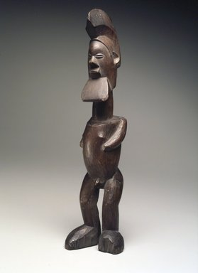 Teke. <em>Figure of a Standing Male</em>, 19th or early 20th century. Wood, 11 15/16 x 2 13/16 in. (30.3 x 7.2 cm). Brooklyn Museum, Museum Expedition 1922, Robert B. Woodward Memorial Fund, 22.491. Creative Commons-BY (Photo: Brooklyn Museum, 22.491.jpg)