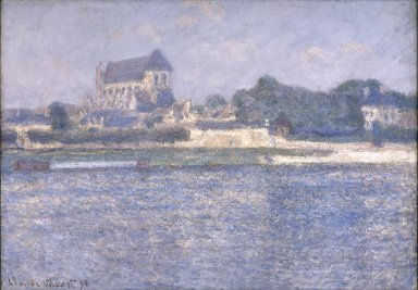 Claude Monet (French, 1840-1926). <em>Vernon in the Sun (Vernon, soleil)</em>, 1894. Oil on canvas, 26 x 37 7/16 in. (66 x 95.1 cm). Brooklyn Museum, Purchased with funds given by Helen L. Babbott and Frank L. Babbott, 22.59 (Photo: Brooklyn Museum, 22.59_reference_SL1.jpg)