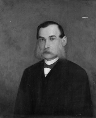 Unknown. <em>Portrait of Henry P. Martin</em>. Oil on canvas, 30 1/4 x 25 in.  (76.8 x 63.5 cm). Brooklyn Museum, Bequest of Henry P. Martin, 22.69 (Photo: Brooklyn Museum, 22.69_cropped_bw.jpg)