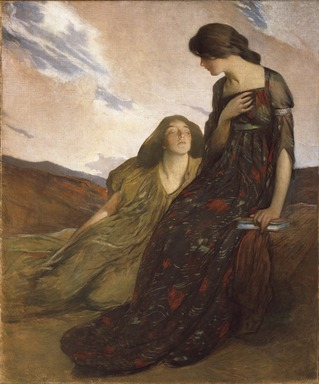John White Alexander (American, 1856-1915). <em>Memories</em>, 1903. Oil on canvas, 62 1/16 x 52 1/16 in. (157.7 x 132.3 cm). Brooklyn Museum, Museum Collection Fund, 22.75 (Photo: Brooklyn Museum, 22.75_SL1.jpg)