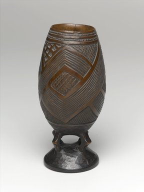 Kuba. <em>Goblet for Palm Wine</em>, late 19th or early 20th century. Wood, height: 6 11/16 in. (17 cm); diameter: 2 5/8 in. (6.7 cm). Brooklyn Museum, Brooklyn Museum Collection, 22.804. Creative Commons-BY (Photo: Brooklyn Museum, 22.804_PS1.jpg)